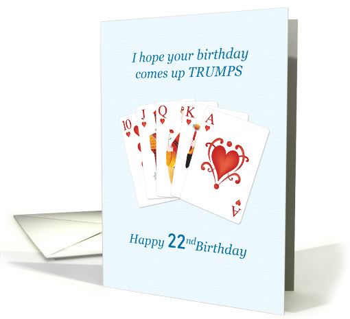 22nd Birthday, Hearts Trumps Whist card (1616048)