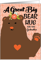 For Godmother - Bear Hug on Mother's Day card
