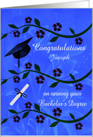 Congratulations for Earning Bachelor's Degree Custom Name Card