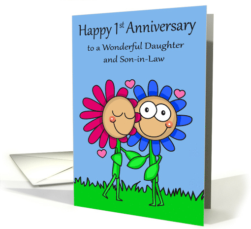 1st Wedding Anniversary to Daughter and Son-in-Law Card... (1376378)