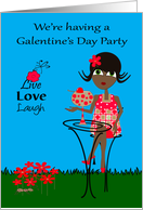 Invitations to Galentine's Day Party, general, dark-skinned woman card
