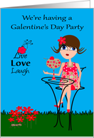 Invitations to Galentine's Day Party, general, woman, large cocktail card