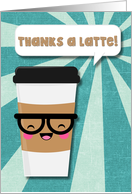 Thank You - Latte - Nerdy Coffee - card