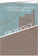 Architect - New Job - Architect Tools And Buildings card