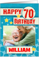70th Birthday With Stylish Effects - Your Picture Here card