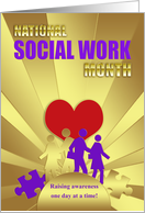National Social Work Month - In Faux Gold Effect And Faux Purple Emboss card