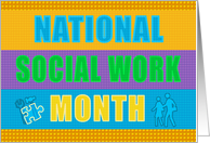 National Social Work Month - Multi Coloured Building Block Design card