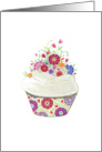 Thank You for the Wedding Gift Flowered Cupcake card