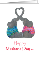 Happy Mother's Day To Two Moms- Two Elephants card
