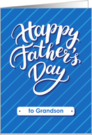 Happy Father's Day blue card for grandson card