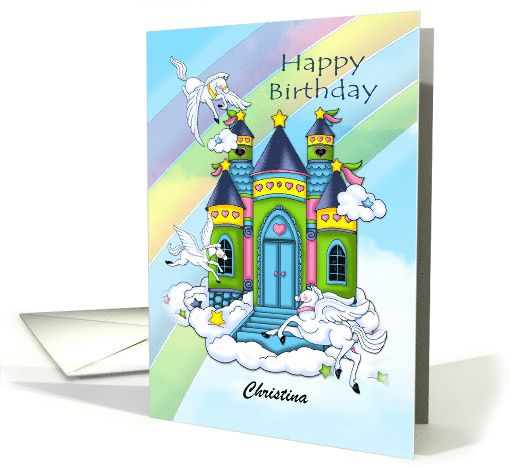 Winged Horse Castle card (1387192)
