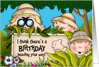 Birthday Safari card