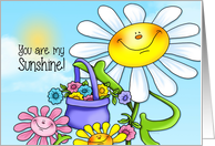 Happy Sunshine and Smiling Flowers card