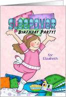 Jump for Joy and Let's Have a Birthday Sleepover Party card