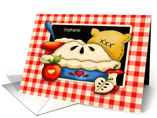 Thinking of You With Apple Pie and Gingham card (1398340)