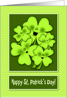 Irish Shamrock St. Patrick's Day Smiles card