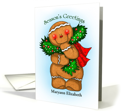 Gingerbread Season Personalized card (1454112)