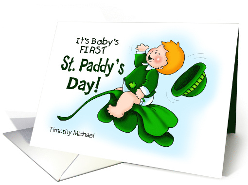 First St. Paddy's Day Boy Personalized card (1466922)