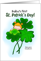 First St Patrick's Day Girl Personalized card