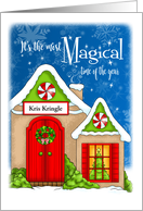 Personalized Magical Christmas Cottage card