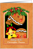 Personalized Gingerbread Holiday Wishes card