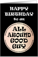 All Around Good Guy Happy Birthday card