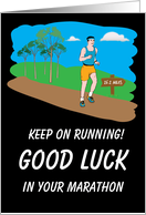 Good Luck In Your Marathon card