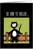 Halloween Child In Cat Costume Trick or Treat card