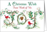 Merry Christmas Joy from Both of Us Hand Lettered card