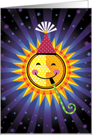 Stars Sun Happy Birthday Universe card