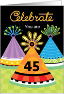 Birthday Celebrate Party Hats 45 card