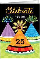 Birthday Party Hats Celebrate Customize any Age card