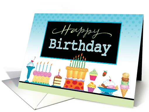 Happy Birthday Cakes Cupcakes Icecream Business card (1538246)
