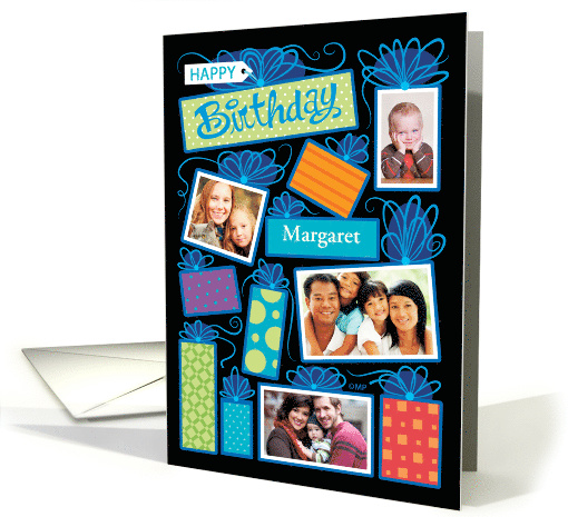 Birthday Presents Custom Photographs Bright Color card (1595122)