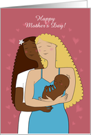 Happy Mother's Day. Card for Lesbians couple. Custom front text card