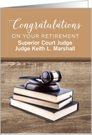 Custom Congratulations Superior Court Judge Gavel Pounding Block Book card