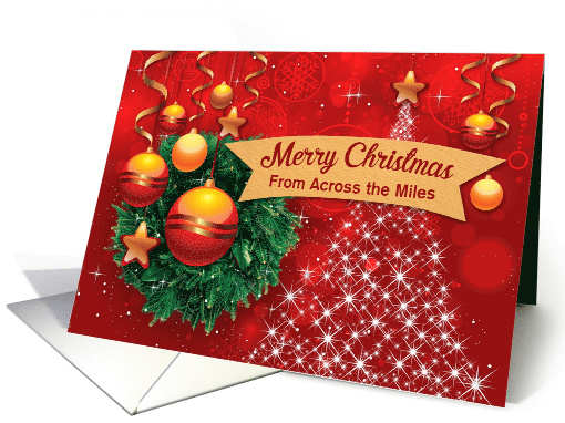 Illustrated Custom Merry Christmas From Across the Miles,... (1440554)