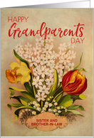 Custom Vintage Flowers Grandparents Day For Sister and Brother in Law card