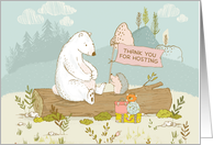 Thank You for Hosting Foreign Exchange Student, Polar Bear, Hedgehog card