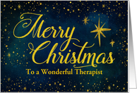 Custom Merry Christmas For Therapist, Starry Night Sky card