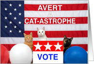 Avert a Cat-Astrophe, VOTE card