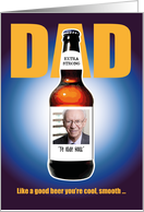 Custom Fathers Day Card With Beer Bottle card