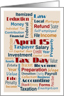 Tax Day - Simple Contemporary Business Fonts Words April 15th card