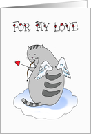 Valentine's Day - For My Love Cute Kitty card