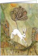 Hare with Standing Stones card