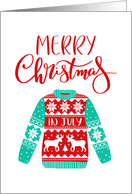 Merry Christmas In July, Ugly Christmas Sweater, Moose card