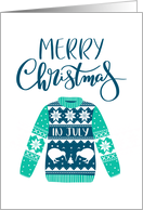 Merry Christmas In July, Ugly Christmas Sweater, Kiwi Bird card