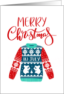 Merry Christmas In July, Ugly Christmas Sweater, Koala card