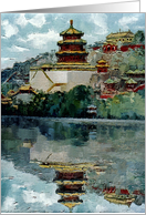 The Summer Palace for Chinese New Year card