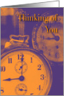 Thinking of You- Clocks card